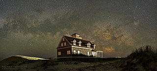Milky Way at Oregon Inlet Panorama