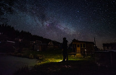 Sky Dream (free3yourmind) Tags: sky dream night stars starry lake nature forest man selfie watch house bralsaw bralsav belarus milky way