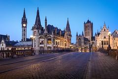 Ghent (Belgium) (renan4) Tags: belgium cityscape night bluehour old europe travel bridge lights nikon d800 renan gicquel renan4 1635mm