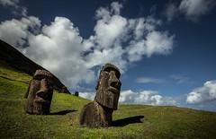 Hinariu (Rodney Harvey) Tags: moai easter island rapa nui remote isolation mysterious stone volcano carving statue heads sculpture