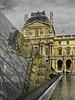 Louvre Pyramid (RobertLx) Tags: architecture sky building glass pyramid modern contemporary palace reflection louvre museum paris france europe desaturated city