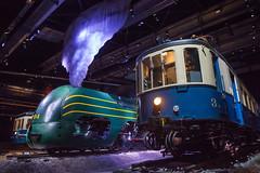 Train World (patrick Thiaudiere, thanks for 1,5 million views) Tags: lowangle flickrfriday trainworld musée museum belgique belgium sncb carenage vapeur autorail steam