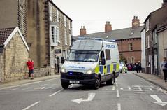 Police van (barronr) Tags: car england knaresborough rkabworks tourdeyorkshire yorkshire bathgatephotographer cycling police race van