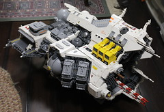 Ugly Duckling: progress report (Blake Foster) Tags: lego moc afol space spaceship ugly duckling microscale microspace
