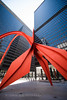 (b56n22) Tags: chicago usa downtown nikon 1424mm 1424f2 wideangle ultrawideangle statue art red loolingup