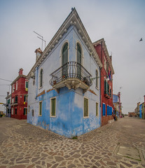 Burano,Venice,Italy (y.mihov, Big Thanks for more than a million views) Tags: burano venice venezia italy trespass travel tourist town house square architecture colours blue street urban sonyalpha sightseeing sigma 1224mm balcony iron corner
