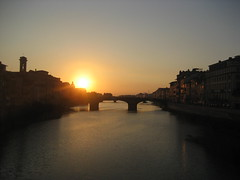 SUNSET IN FLORENCE (Xolois) Tags: sunset bridge water sun italy building sky skyscape city summer europe relaxing relax stillness quiet romance love silence afternoon evening river sea buildings