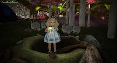 Look dolly We made it back to Wonderland..... (ArwennEvenstarUndomiel) Tags: littlefriendclothing {lfc} annyzinhbaby moonsha kokoroposes felipehaal toddleedoobaby alice wonderland enchantment secondlifemodel secondlifeblogger fairytale rabbits air aslankish wowskins sawsansecretspy truth truthhawks