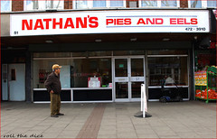 Nathan's Pies and Eels (roll the dice) Tags: london newham e6 restaurant menu sad mad surreal vanished food eat asian indian football brooking hammers glass window people fashion old local history liquor eastend parsley barkingroad uptonpark stratford olympics boleynground soccer pitch thamesironworks hurst canon tourism tourists hungry nostalgia angey cockney jelliedeel traditional workingclass smoking seats east uk art classic urban dirty grim england