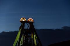 Förderturm Oberaden_8949-1 (berndfpunkt) Tags: industrielandschaft nachtfotografie förderturm bergbau bergkamen coalmining zeche ruhrgebiet nacht night