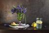 Muscari armeniacum (panga_ua) Tags: muscariarmeniacum flower avocado springtime water lemon blue green yellow fruit