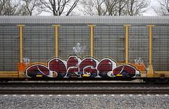 Jigl (quiet-silence) Tags: graffiti graff freight fr8 train railroad railcar art autorack jigl mfk ld