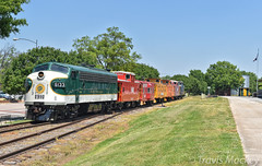 SOU 6133 leading the caboose train at the Spencer Shops (Travis Mackey Photography) Tags: sou 6133 fp7a nc transportation museum spencer shops