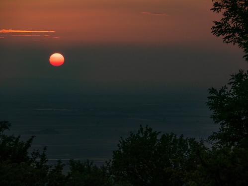 Sonnenuntergang über dem Marchfeld