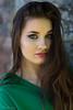 Portrait in a shadow (piotr_szymanek) Tags: marcelina marcelinab woman milf young skinny face portrait eyesoncamera longhair green blouse outdoor 1k 20f 50f closeup 5k 100f 10k