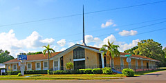 A Northgate Baptist Church, W. Linebaugh Ave & N. Willow Ave, Tampa, Florida (gg1electrice60) Tags: northgatebaptistchurch 1301linebaughavenue 1301linebaughave cornerofwillowavenue intersectionofwillowave tampa florida fl unitedstates usa us america evangelicals architecture steeple church hillsboroughcounty partlycloudy forresthillsneighborhood neighborhood palmtrees bushes shrubs grass signs stonechurchbuilding stonemasonry sidewalk forresthills religion