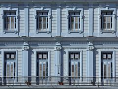 Plaza Vieja (RobertLx) Tags: facade balcony blue cuba havana plazavieja building architecture window wall america caribbean island house