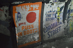 Remnants of Puss in Boots & Coronation Street Poster (CoasterMadMatt) Tags: eustonstationthelosttunnels2018 eustonstationthelosttunnels eustonstation thelosttunnels euston station lost tunnels eustonundergroundstation disusedtunnels disused hiddenlondon hidden london tour tours london2018 capitalcityofengland capitalcityofgreatbritain capitalcity englishcities britishcities city cities londonunderground londonundergroundtours poster posters advert adverts advertisements coronationstreet pussinboots corrie southeastengland southeast england britain greatbritain gb unitedkingdom uk europe february2018 winter2018 february winter 2018 coastermadmattphotography coastermadmatt photos photographs photography nikond3200