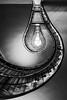 Lightbulb staircase (hjuengst) Tags: prag prague treppenhaus treppe wendeltreppe staircase spiralstaircase lightbulb glühbirne grandcafeorient blackmadonna schwarzemadonna cubist kubisch czechrepublic tschechien