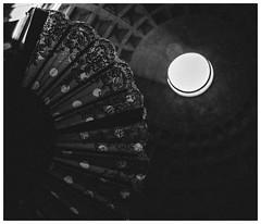 Fan of the Pantheon (Thomas Listl) Tags: thomaslistl blackandwhite biancoenegro noiretblanc rom rome italy pantheon antique dark mood light circle fan geometry 24mm wideangle