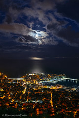Majestic full moon (Mavroudakis Fotis) Tags: city environment epic full light lights moon natural night reflection scenery sea sky surface art arts background backgrounds beauty cinematic greece kavala cloudscape colorful citylights europe ecology sustainability