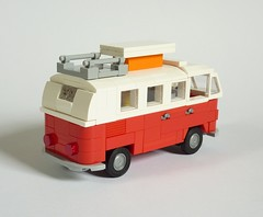 Volkswagen T1 Camper (MOCs & Stuff) Tags: lego city town vw volkswagen t1 kombi bus transporter camper