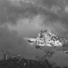 Kinner Kailash, Himachal Pradesh, India (tanaykibe) Tags: himachal himalayas india blackandwhite kailash kinner landscape mountain snow clouds