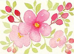 """""""Beautiful Garden 2"""" ACEO 103 (Sonia Aguiar (Mallorca)) Tags: watercolor watercolour acuarela aquarell aquarelle aceo"""