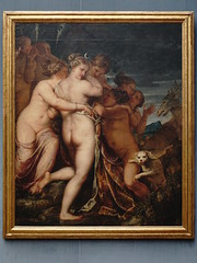 Kat.Nr.455: Diana und Aktäon (staetebau) Tags: deutschland germany berlin staatlichemuseenzuberlin nationalmuseumsinberlin kulturforum cultureforum gemäldegalerie picturegallery oldmastersmuseum indoor italienisch malerei italianpainting barock baroque pietroliberi illibertino mythologie mythology