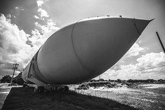 Left Behind (3rd-Rate Photography) Tags: nasa spaceshuttle externaltank space science blackandwhite bw monochrome greencovesprings florida canon 1635mm 3rdratephotography earlware 365 abandoned fullscalemodel