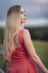 Martyna #2 (tbnate) Tags: tbnate d750 nikond750 nikon sigma sigma85art 85mm portrait portraiture female woman model dress red reddress outdoor outside sunset goldenhour yorkshire girl
