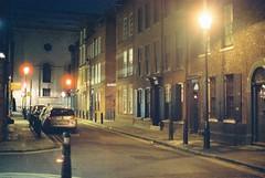Wilkes Street (goodfella2459) Tags: nikon f4 af nikkor 50mm f14d lens cinestill 800t 35mm c41 film night wilkes street east end whitechapel london streets jack ripper buildings light manilovefilm