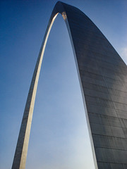 The Arch (Shawn Blanchard) Tags: arch architecture art metal reflection blue sky st louis missouri tourist monument material design