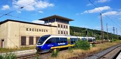 """643 304 der NordWestBahn erreicht als RB84 """"Egge-Bahn"""" aus Paderborn Hbf den Endbahnhof Kreiensen (claudio.bickel98) Tags: nordwestbahn transdev privatbahn regionalbahn eggebahn bombardier talbot talent vt643 alphatrains nahverkehr spnv kreiensen niedersachsen trainspotting"""
