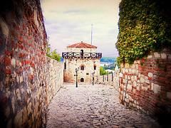 Kalemegdan, tight passage (Superoperater hero) Tags: beograd fortress kalemegdan medieval photos road stone tvrdjava wall