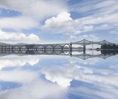 Coos Bay Bridge (My Americana) Tags: coosbay bridge coosriver oregoncoast oregon or clouds reflection condebmccullough