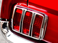 pony tail... (Stu Bo) Tags: canon certifiedcarcrazy coolcar classiccar canonwarrior taillight pony musclecar mustanglust mustangsunlimited fordpower red icon chromeisking sbimageworks sexonwheels
