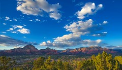 Sedona Sky (Brook-Ward) Tags: hdr brook ward sedona sky az arizona blue clouds sunset sunrise landscape mountains red rock travel vacation holiday