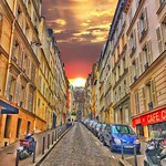 Paris  France  -  Latin Quarters  - Check the narrow laneways thumbnail
