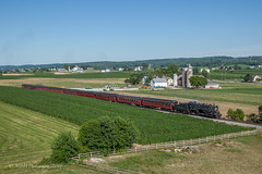 We Don't Need No Stinkin' Drone!!!! (Darryl Rule's Photography) Tags: 2100 2018 90 amish amishcountry carpenters cherryhill greatwestern july lancaster lancastercounty pa passenger passengertrain pennsylvania railroad railroads steam steamengine steamengines steamer strasburg summer sun sunny tourist train trains