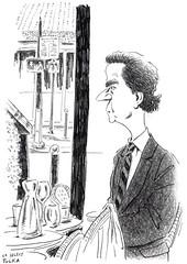 Café Le Sélect 252 (Rick Tulka) Tags: paris café caricature pencil drawing sketcbook lesélect