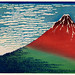 Sanka Hakuu by Katsushika Hokusai (1760-1849), meaning Shower below a summit, a traditional Japanese Ukyio-e style illustration of Mount Fuji. Digitally enhanced from our own original edition.