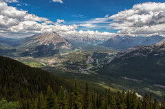 High above - EXPLORED (July 15, 2018) (JD~PHOTOGRAPHY) Tags: banff mountains banffnationalpark mountainlandscape town townofbanff forests blueskies landscape nature canon canon6d