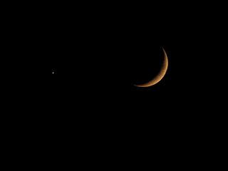 Moonset with Venus tonight