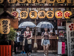 Rainy mood (Dmitry_Pimenov) Tags: kyoto nishiki streeet japan japaneselifestyle light lights colors colorful people asia rain rainy weather summer dipimenov dmitrypimenov fujifilmxt20 55200 япония киото дождь улица wet