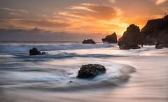 El matador sunset (photoserge.com) Tags: sunset long exposure water seascape view beach clouds sky