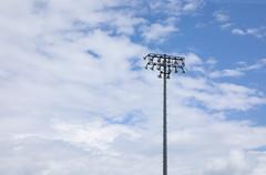 Stadium lights (milepost430media.com) Tags: stadium baseball field sport athletics game dslr canon 5d markiv lights sky clouds