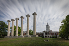 The Columns (Notley Hawkins) Tags: httpwwwnotleyhawkinscom notleyhawkinsphotography notley notleyhawkins 10thavenue haida mizzou columns thecolumns jessehall campus universityofmissouri columbiamissouri bocomo boonecountymissouri july afternoon sky clouds cloudysky nd ndfilter neutraldensity neutraldensityfilter haidafilter 12stop longexposure grass tree francisquadrangle