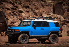 Ol' Blue (Fire_For_Effect) Tags: moab utah ut usa united states america red rocks mountains canyon canyonland green river colorado trail hiking offroad 4x4 low range 4wd awd toyota fj cruiser fjsummit canon photography