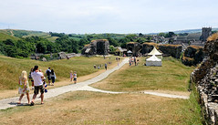 Corfe Castle June 23rd  2018, Falconry Day on the Isle of Purbeck, in the county of Dorset, England. (samurai2565) Tags: corfecastle castleindorset england purbecks wareham doomsdaybook bankesestate thenationaltrust swanage sandbanksferry studland swanagerailway corfecastlestation museumcorfecastle isleofpurbeck